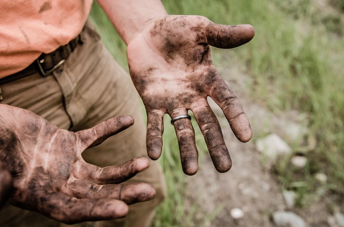 как и чем отмыть руки после сбора маслят в домашних условиях фото