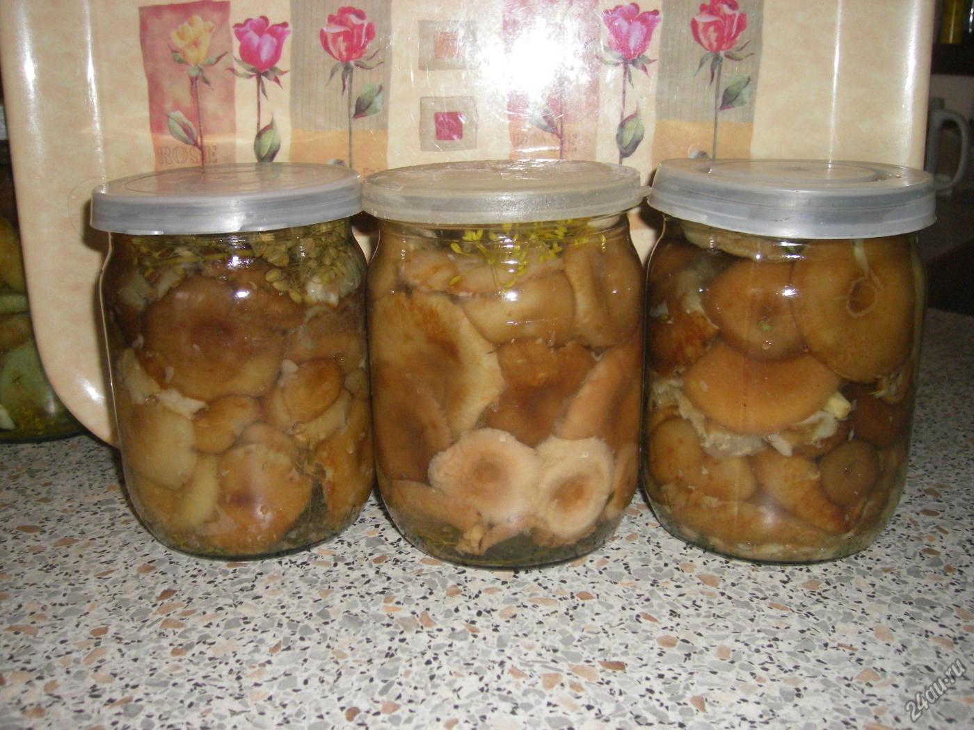 рецепт с фото: маринованные грузди в коричном маринаде фото