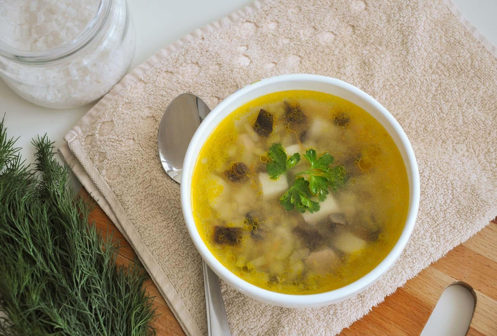 наваристый суп из грибов курочек фото