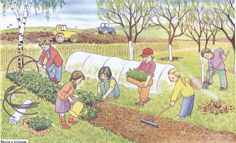 работы в саду и огороде в апреле фото