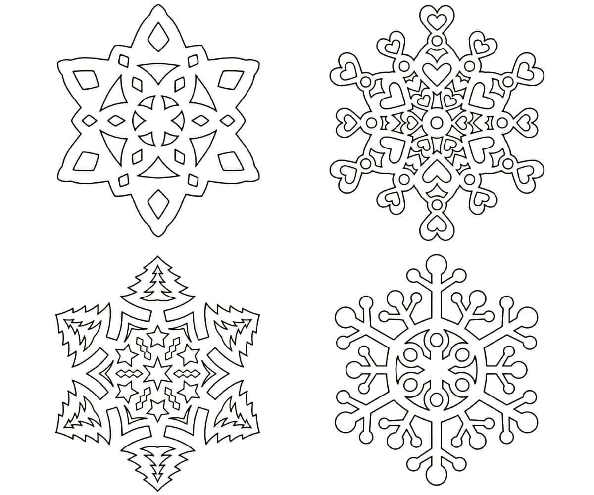 снежинка - классическая вытынанка и символ зимы фото 2