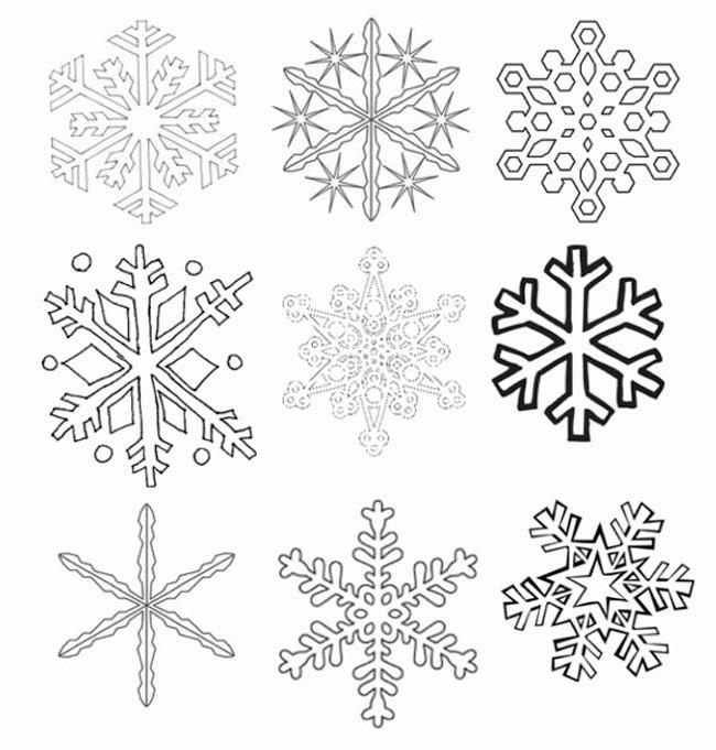 снежинка - классическая вытынанка и символ зимы фото 4