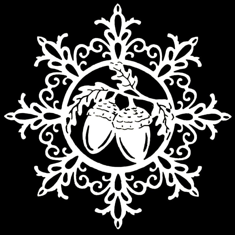 снежинка - классическая вытынанка и символ зимы фото 5