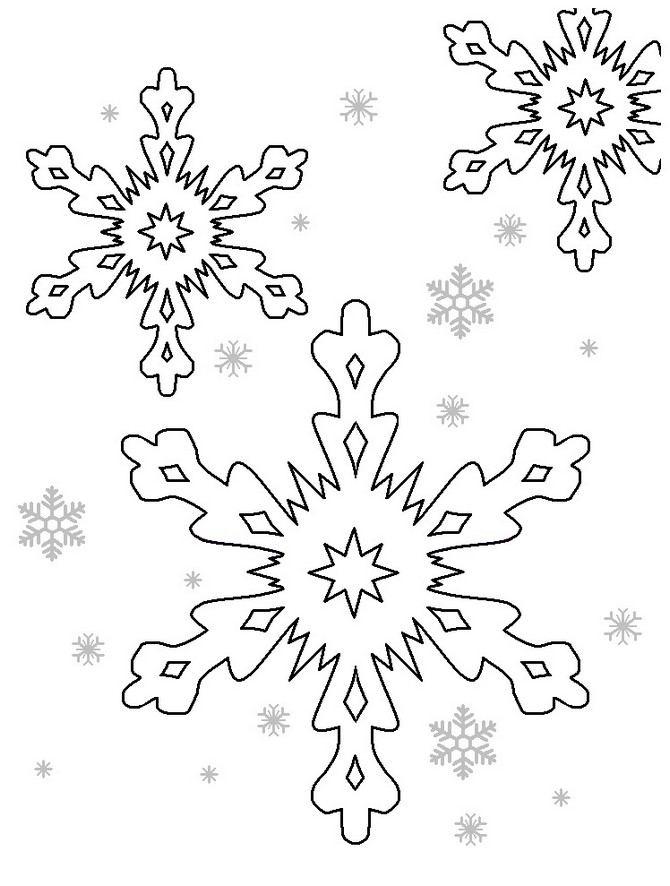 снежинка - классическая вытынанка и символ зимы фото 6