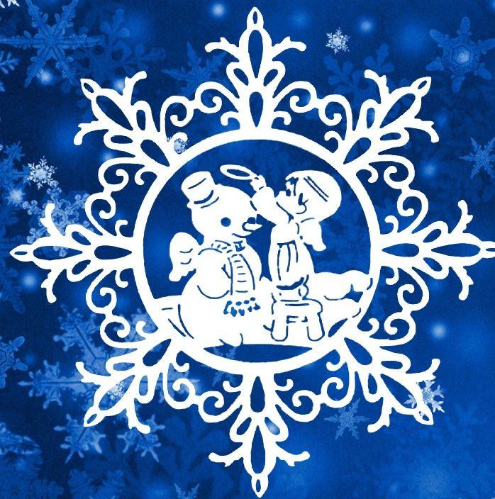 снежинка - классическая вытынанка и символ зимы фото 8