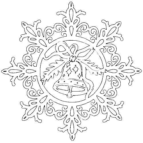 снежинка - классическая вытынанка и символ зимы фото 9