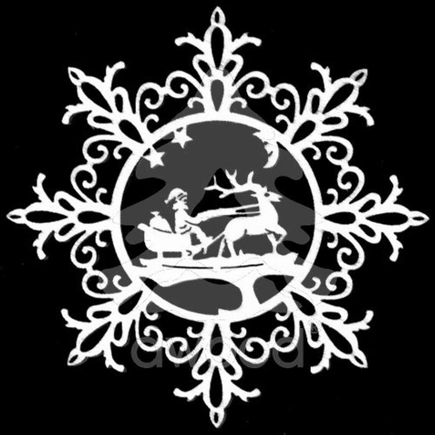 снежинка - классическая вытынанка и символ зимы фото 10
