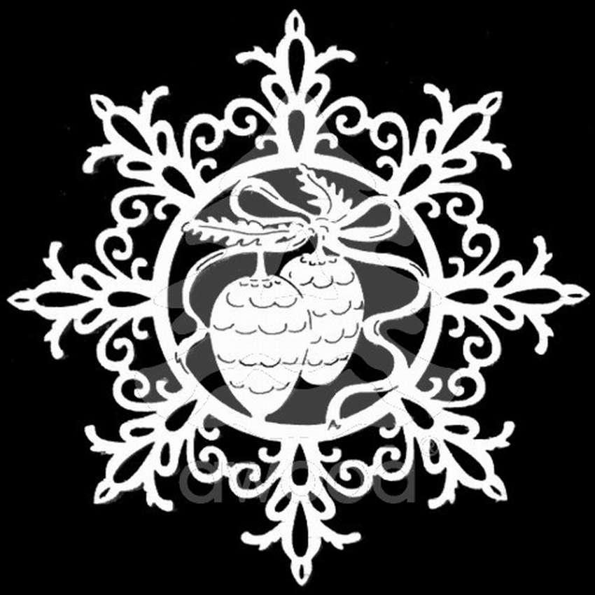 снежинка - классическая вытынанка и символ зимы фото 11