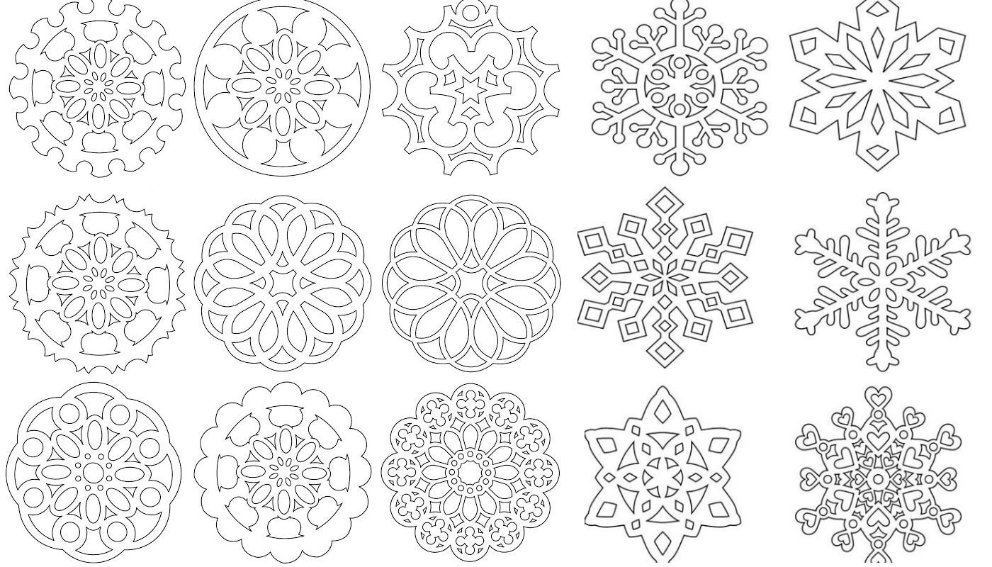 снежинка - классическая вытынанка и символ зимы фото 13