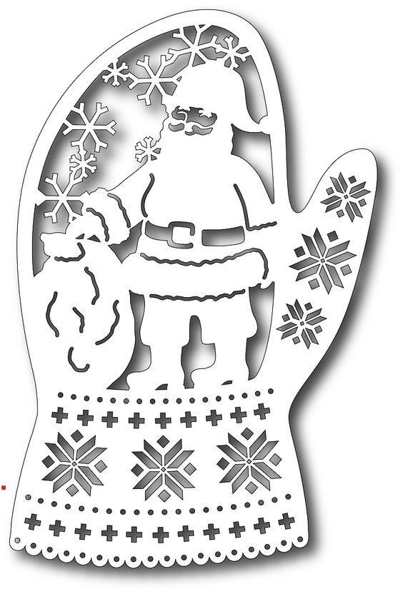 Дед Мороз - трафареты для вырезания на окна фото 4