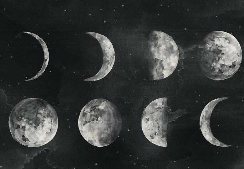 8 фаз Луны в январе фото