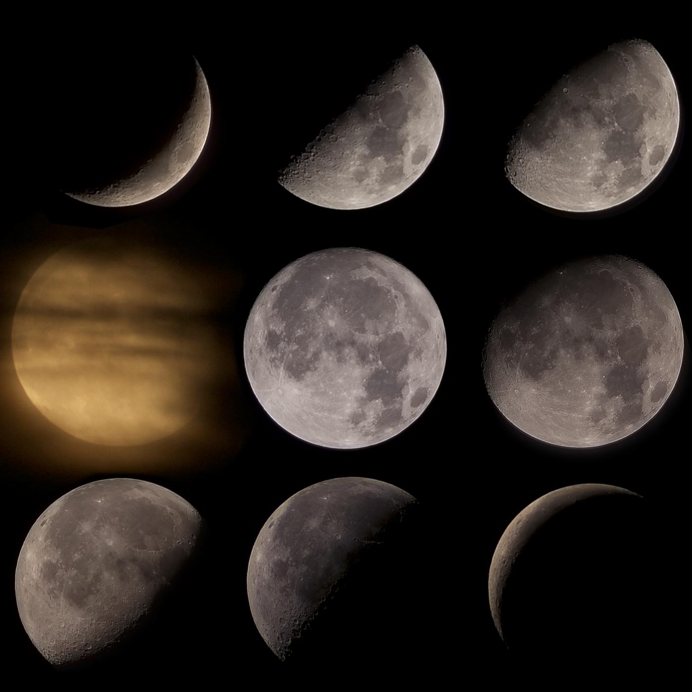 фазы Луны в январе 2021 года фото