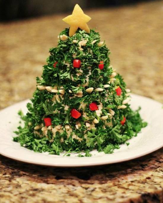 №9 - салат «Оливье в форме ёлочки» фото