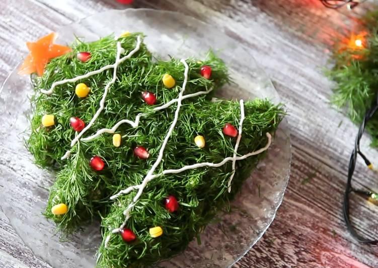 №9 - салат «Оливье в форме ёлочки» фото 2