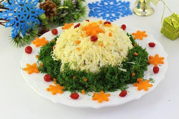 №4 - салат «Сугроб» с куриной грудкой фото 2