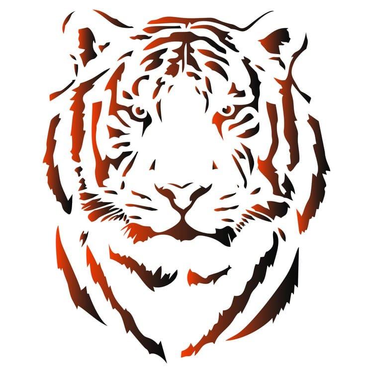 вытынанка символа 2022 года - Тигра фото 1