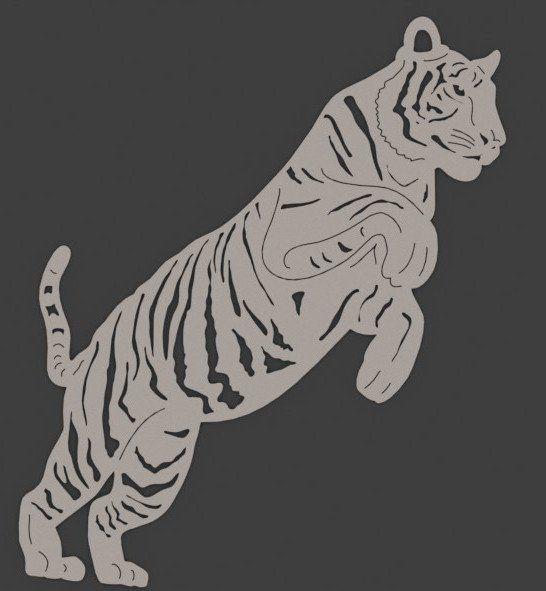 вытынанка символа 2022 года - Тигра фото 3