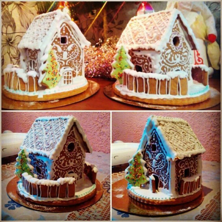 пошаговый рецепт пряничного домика на Новый год 2022 и Рождество фото 11