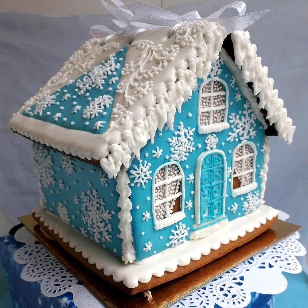 идеи оформления пряничного домика на Новый год и Рождество 2022 фото 2