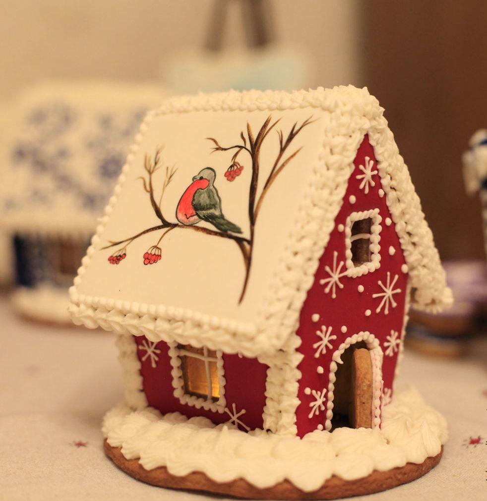 идеи оформления пряничного домика на Новый год и Рождество 2022 фото 5