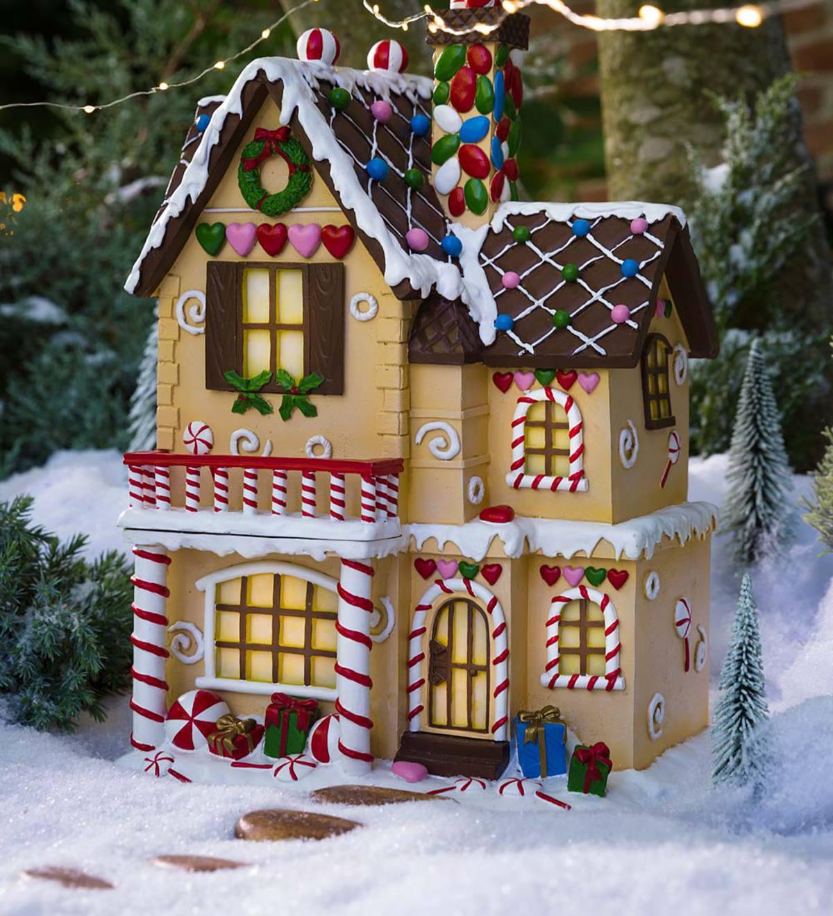 идеи оформления пряничного домика на Новый год и Рождество 2021 фото 7