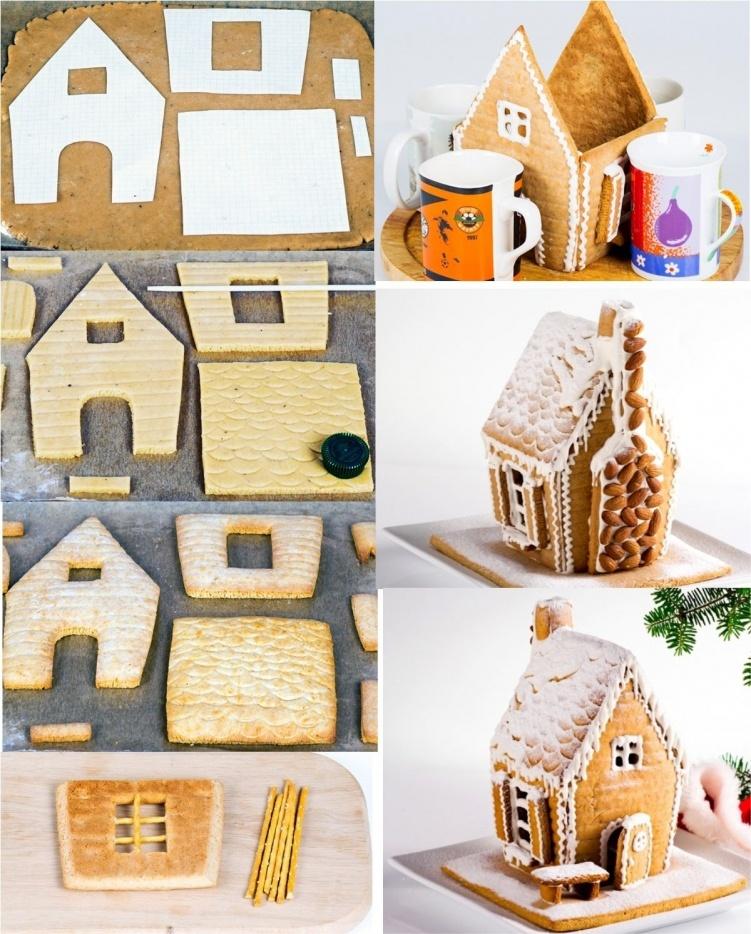 пошаговый рецепт пряничного домика на Новый год 2022 и Рождество фото 3