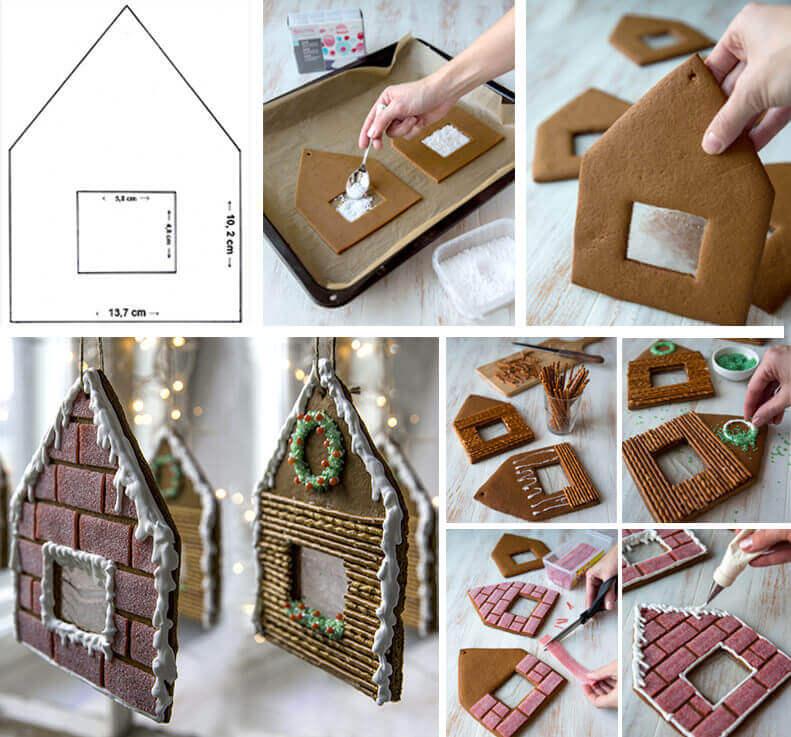 пошаговый рецепт пряничного домика на Новый год 2022 и Рождество фото 4