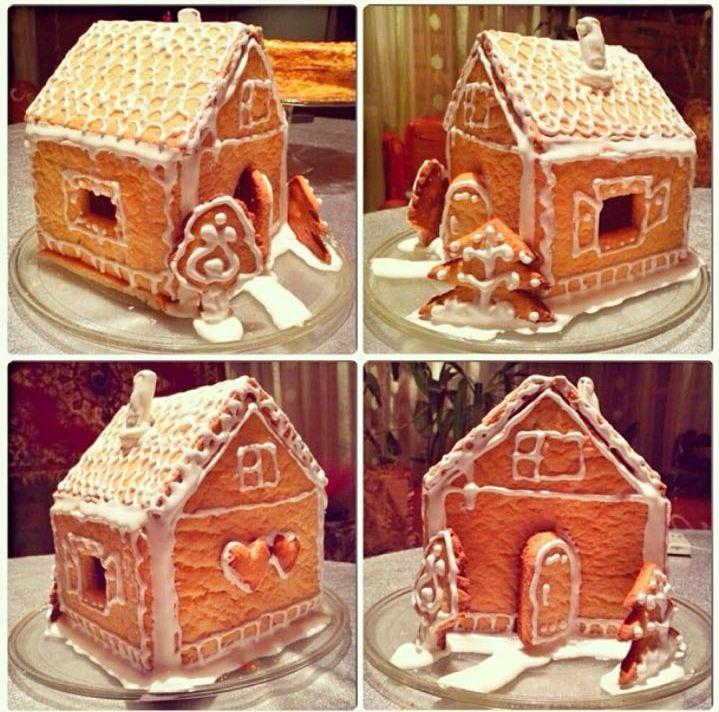 пошаговый рецепт пряничного домика на Новый год 2022 и Рождество фото 6