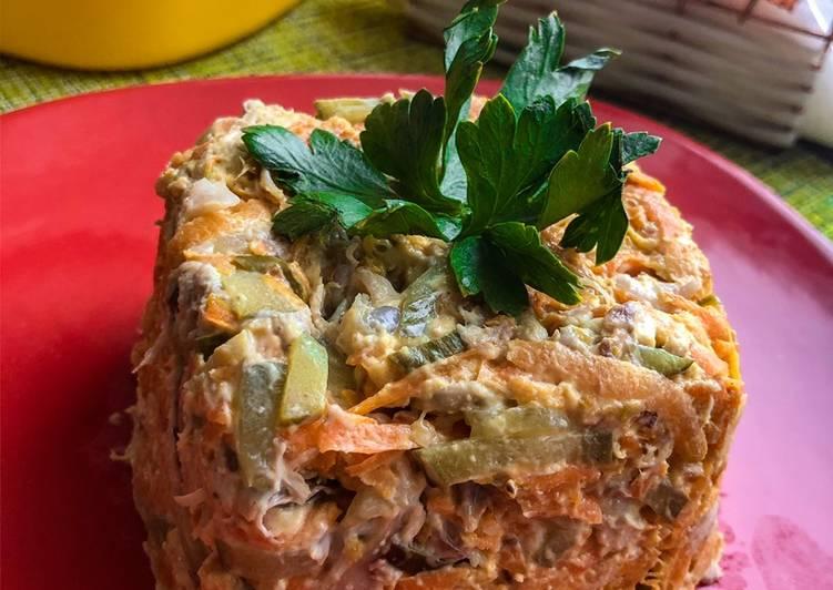 первый рецепт - классический салат Обжорка фото 1