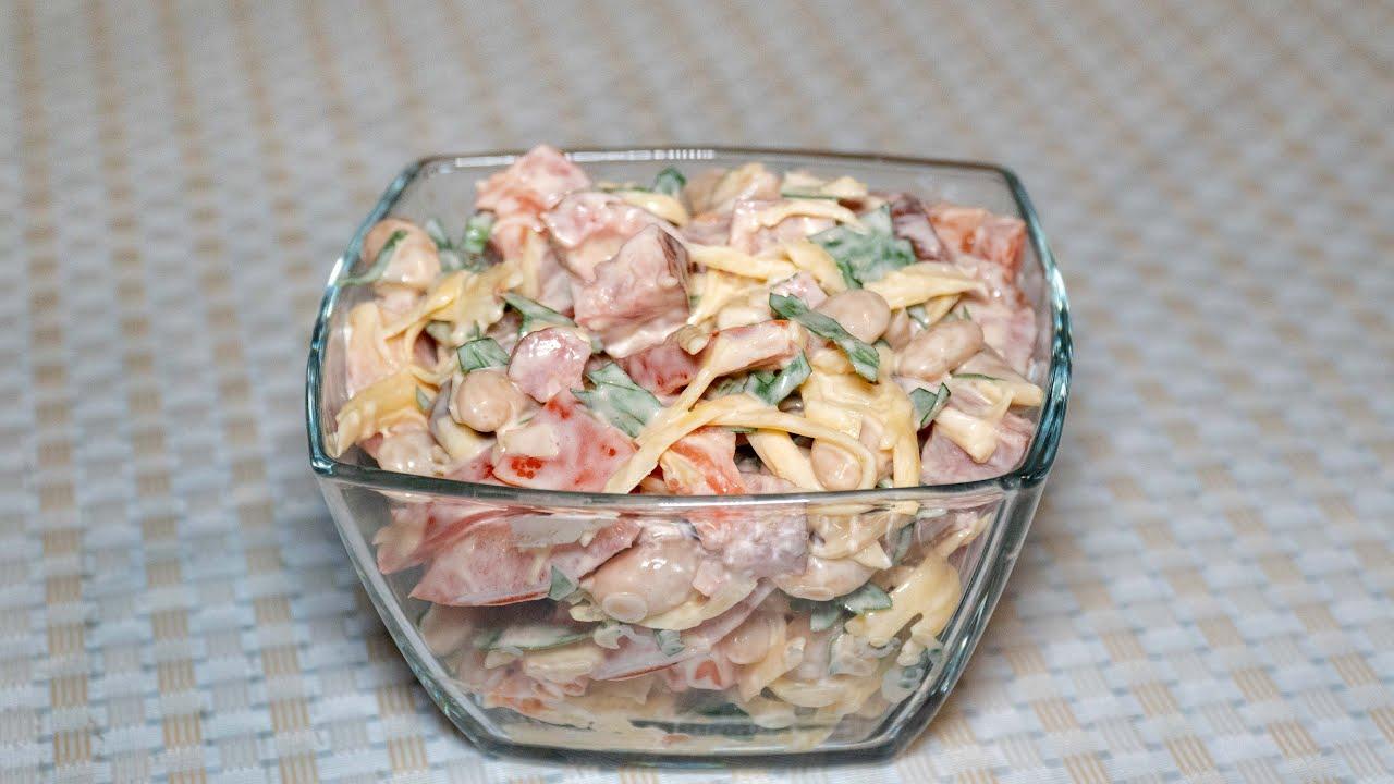второй рецепт - салат Обжорка с курицей фото