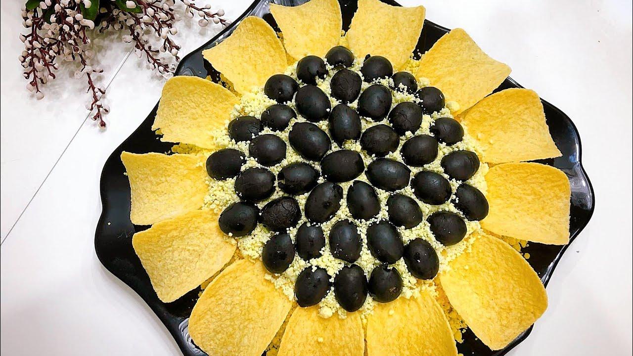 салат Подсолнух на Новый год 2022 фото