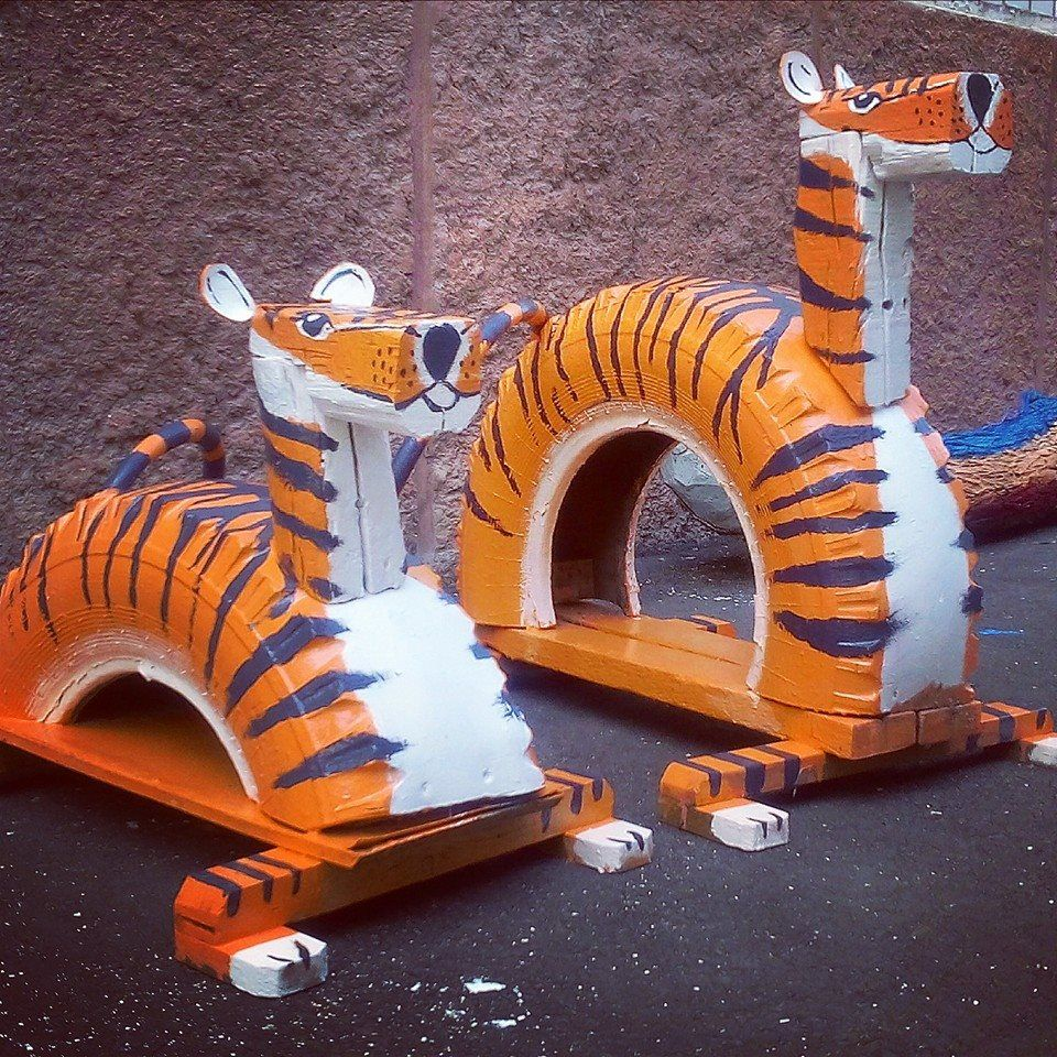 тигрёнок - клумба для сада и огорода фото