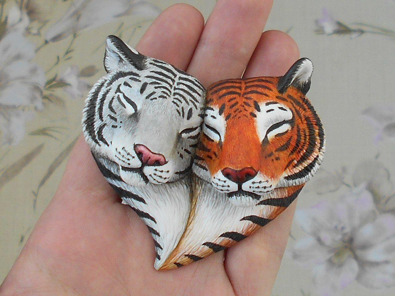 тигрёнок из полимерной глины фото 3