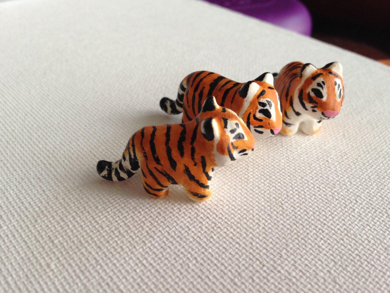 тигрёнок из полимерной глины фото 4