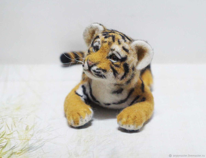 тигруша из войлока или валяной шерсти фото 1