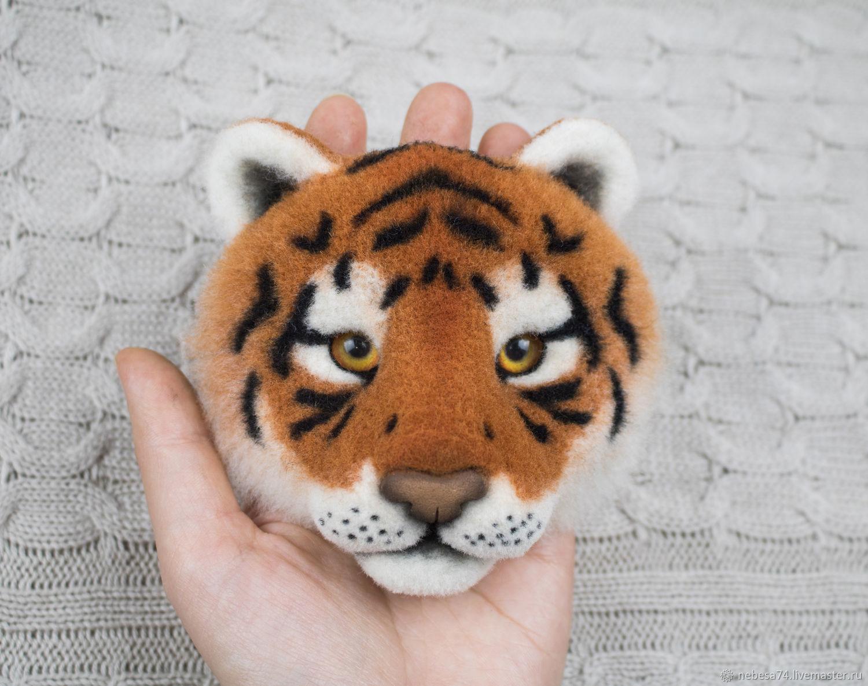 тигруша из войлока или валяной шерсти фото 2