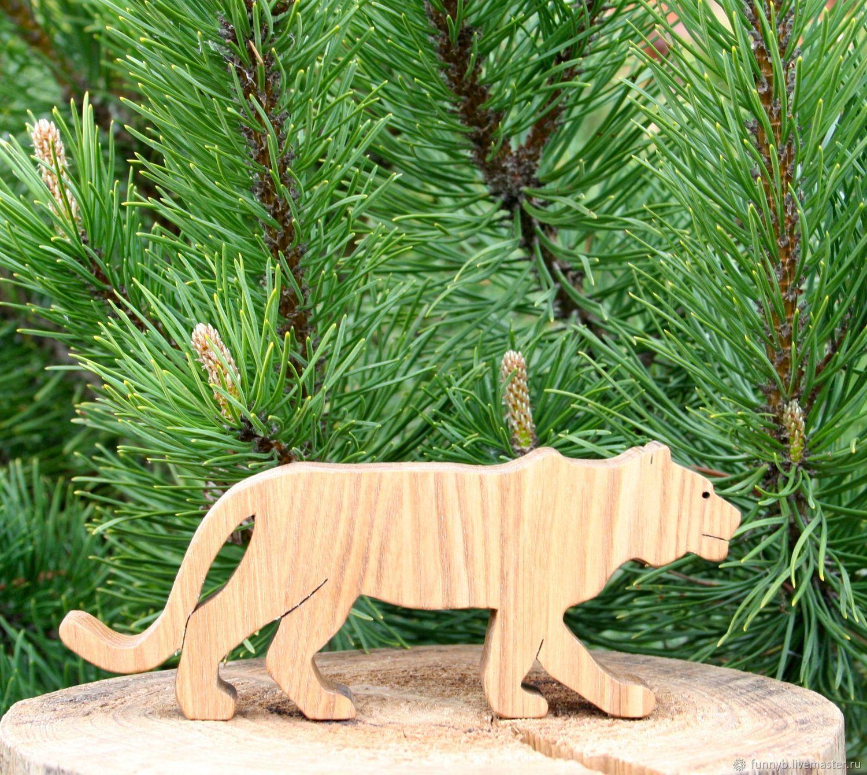 мастер-класс из дерева №14 - тигр из дерева фото 2