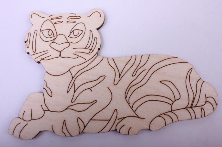мастер-класс из дерева №14 - тигр из дерева фото 3