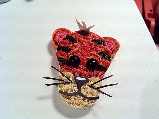тигр из квиллинга, фото МК