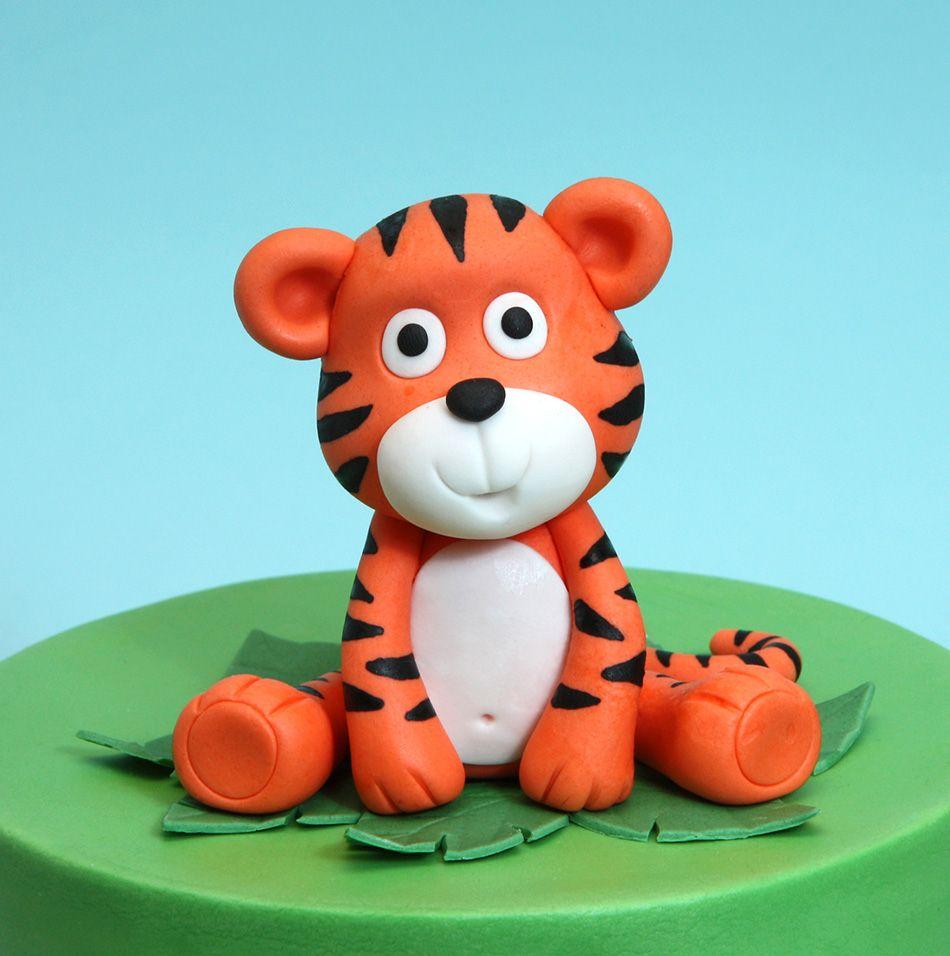 съедобный тигр из мастики фото 1