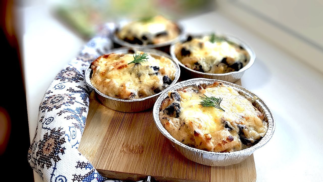 третий рецепт - Куриный Жульен с грибами фото