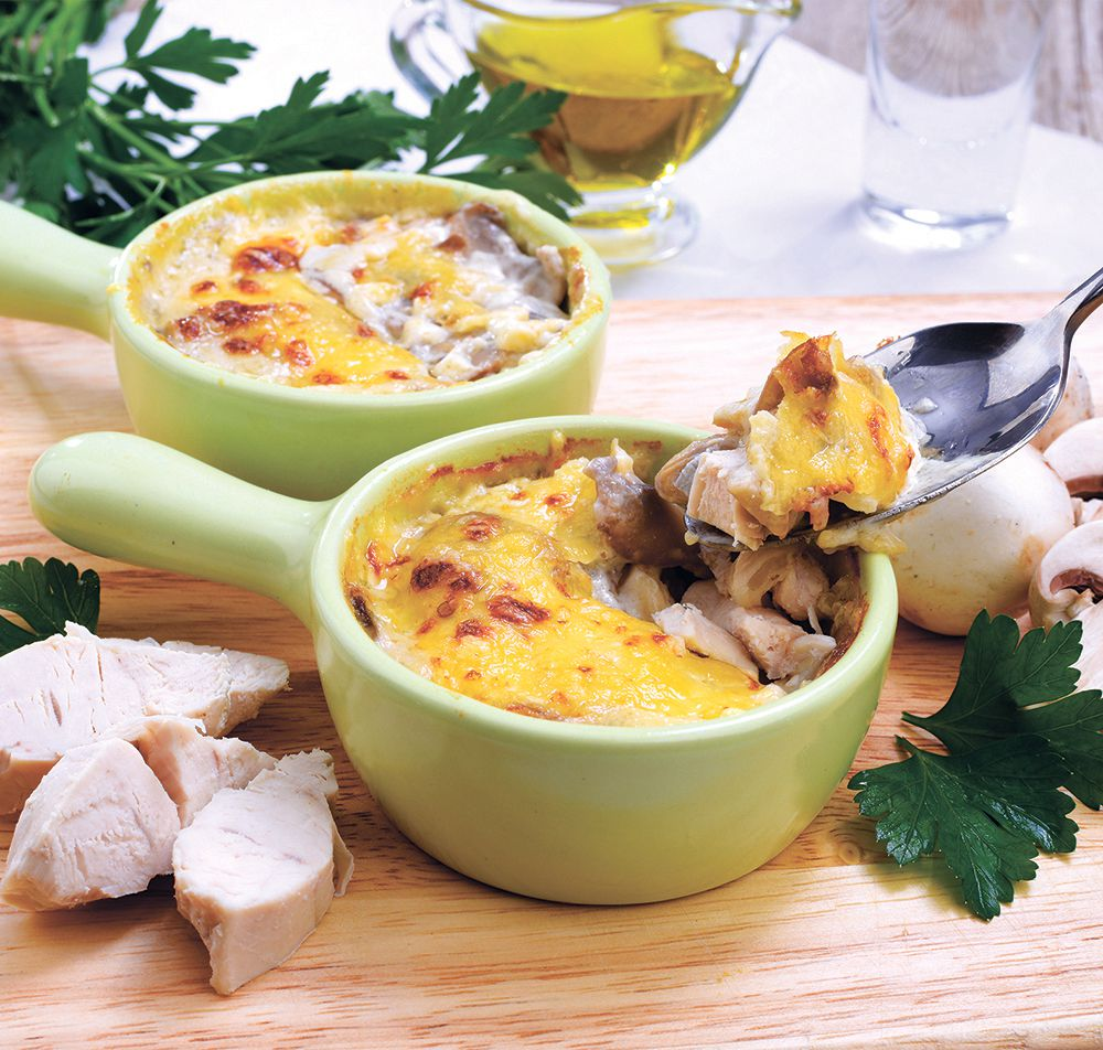 седьмой рецепт - Жульен с картофелем и грибами фото