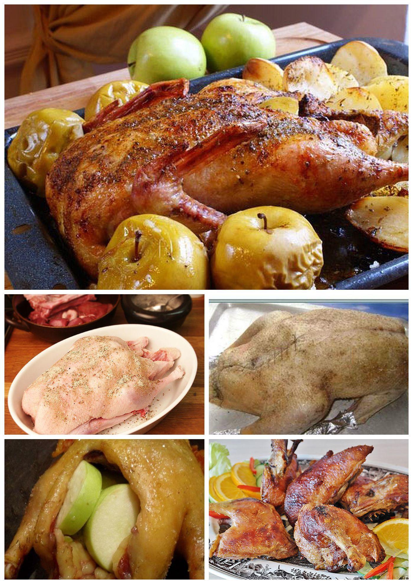 пошаговый рецепт №1 - Гусь с яблоками в духовке с фото 2