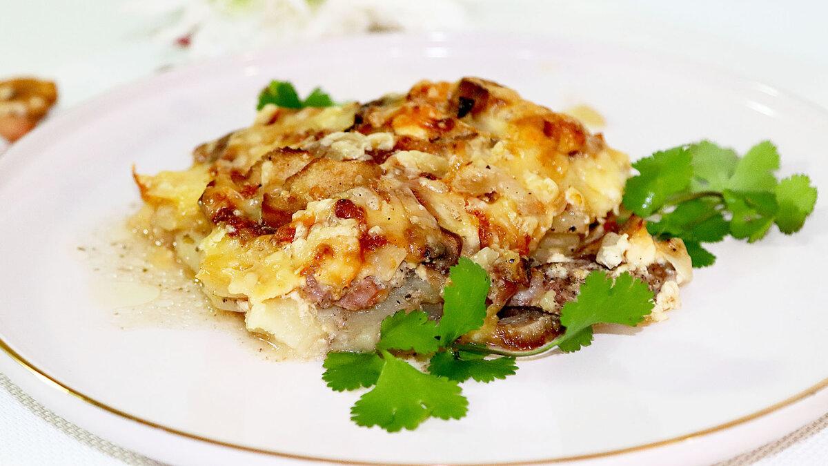 мясо с запеченным картофелем по-французски фото
